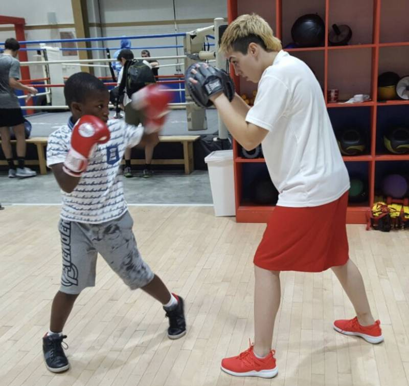 Boxing personal trainer for kids in Dubai - Anahit
