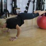 Female PT in Abu Dhabi Barbara Pushup Workouts