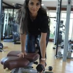 abu dhabi female fitness personal trainer nermin weight training