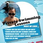 Swimming lessons in Dubai with Irene - promo flyer 2
