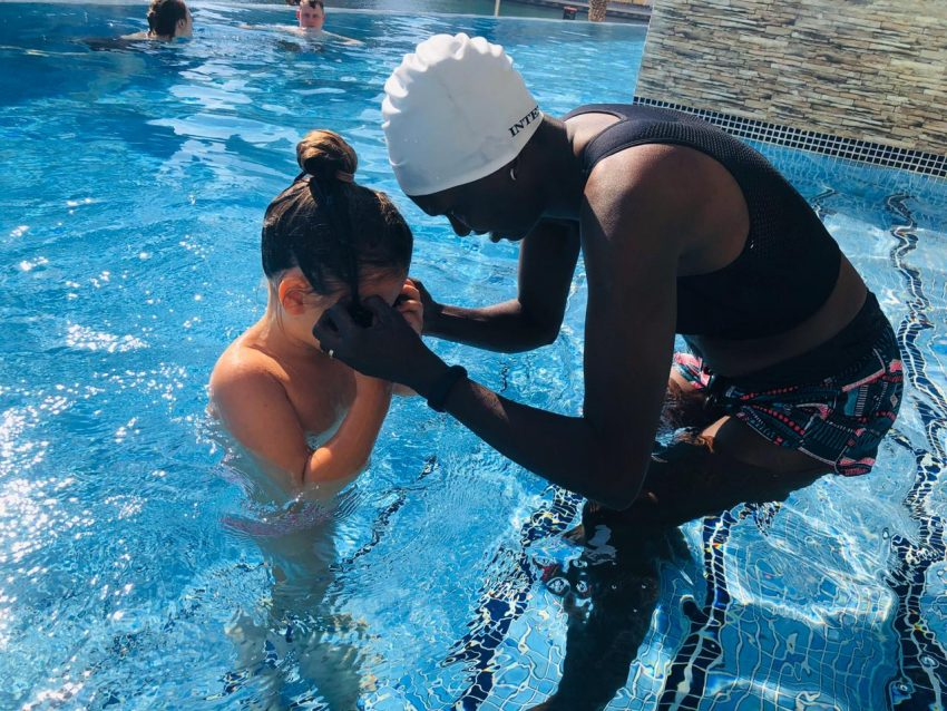 Swimming Lessons and Coaching In Dubai with swimming coach Irene Kenny