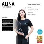 alina - female abu dhabi private tennis coach - skills and qualifications infographic