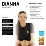 dianna - female abu dhabi swim coach - skills and qualifications infographic