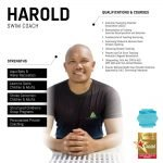 harold - abu dhabi personal swimming trainer - skills and qualifications infographic