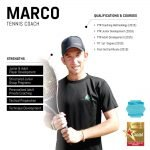 marco - abu dhabi personal tennis trainer - skills and qualifications infographic