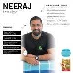 neeraj - abu dhabi swimming trainer - skills and qualifications infographic