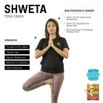 shweta - female abu dhabi yoga coach - skills and qualifications infographic
