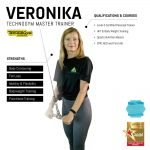 veronika - female abu dhabi personal trainer - skills and qualifications infographic