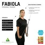 Female Personal trainer in Abu Dhabi Fabiola - infographic
