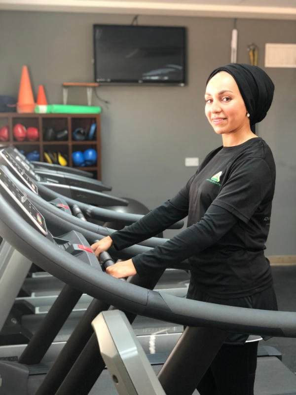 treadmill exercises in abu dhabi with loubna