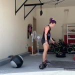 At home crossfit training in Abu Dhabi with female fitness specialist PT Rachel