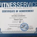 Female PT In Dubai Viktoria - Training Qualification Certificate 3