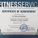 Female PT In Dubai Viktoria - Training Qualification Certificate 4