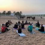 Outdoor yoga classes in Abu Dhabi with Yoga Coach Elena