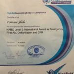 Poonam Yoga In Dubai first aid certificate