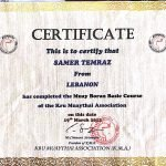 Samer - Kickboxing, Martial Arts And Self Defense In Dubai - Certificate 4
