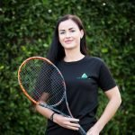 Tennis lessons in Abu Dhabi for men and women with Alina