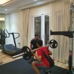 Weight training in Abu Dhabi with PT Hamada