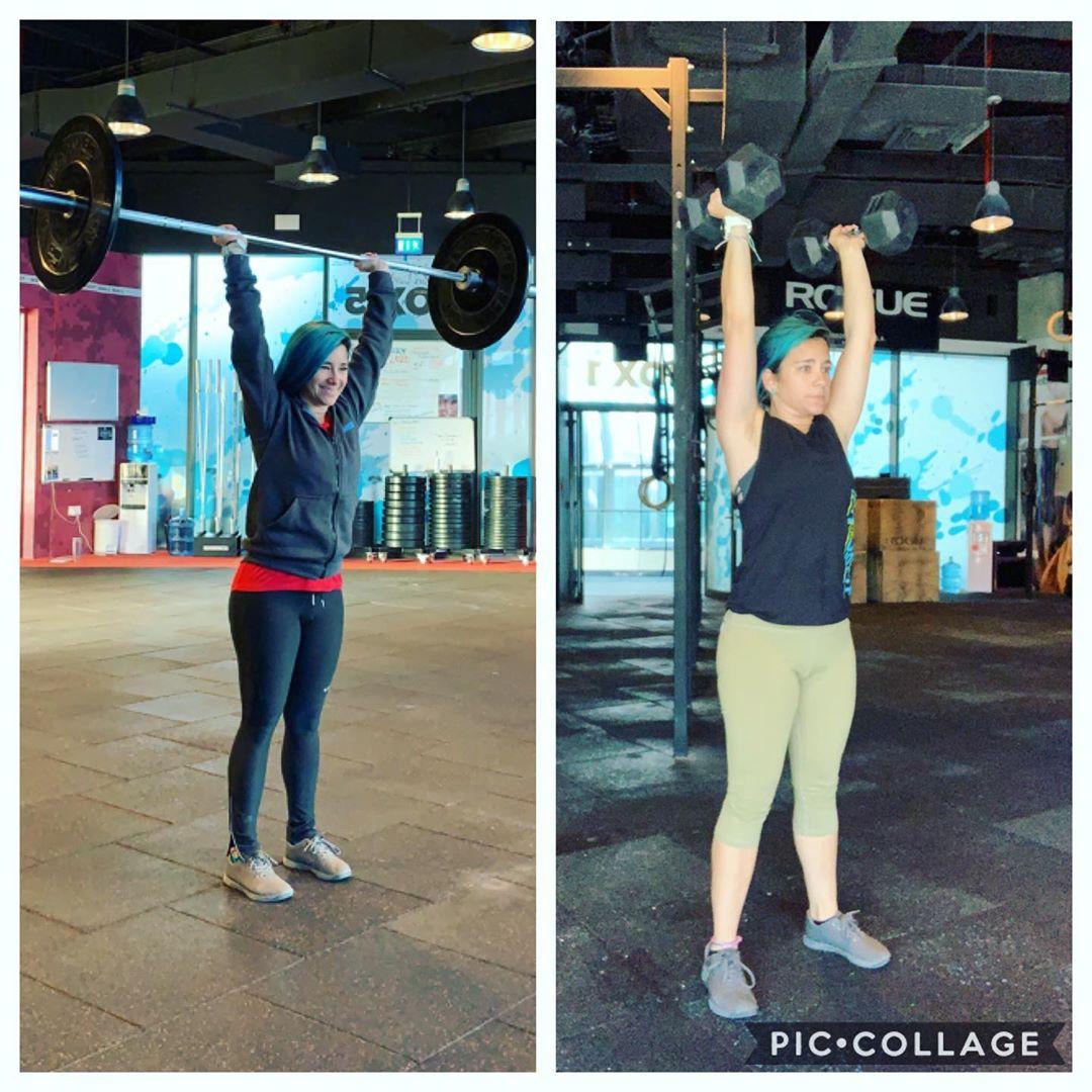 body toning weight training with Abu Dhabi female trainer Rachel