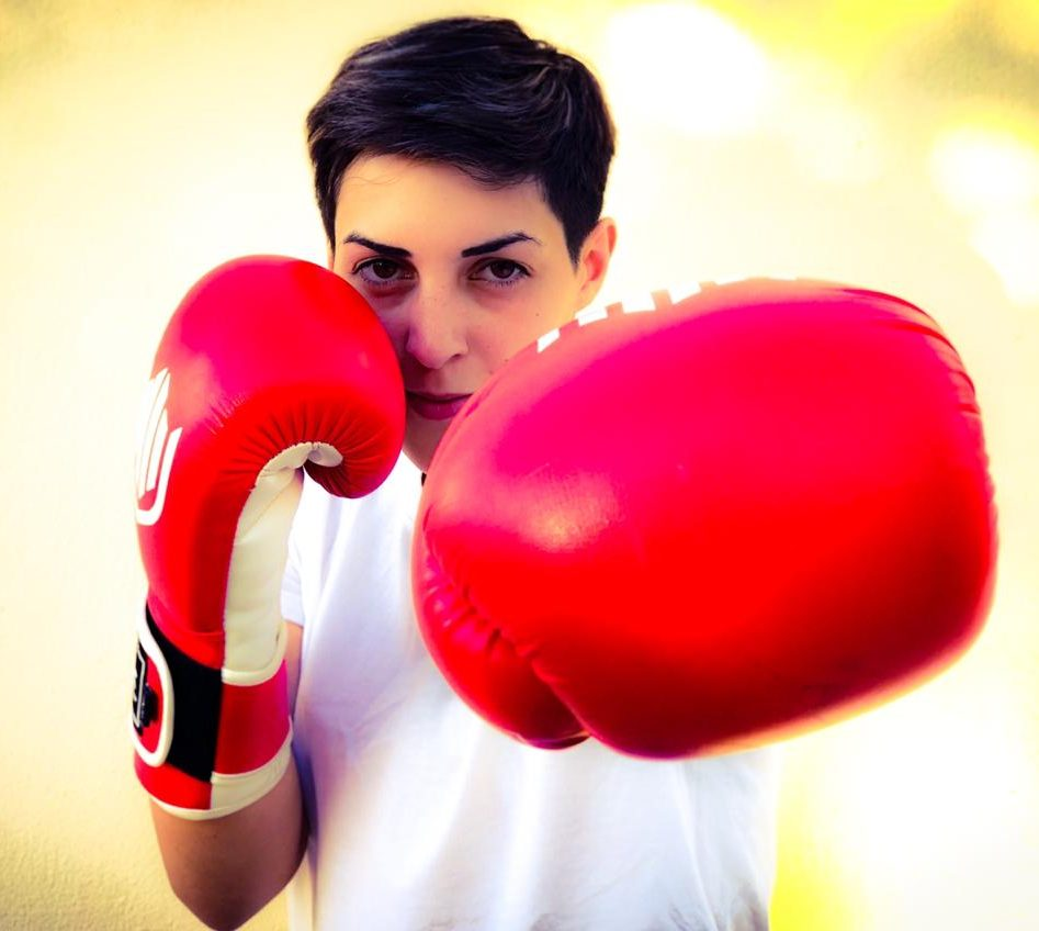 female boxing coach in duabi UAE - anahit