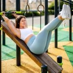 Fitness training in the park in Dubai with PT Amanda
