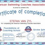 Stefan - swimming teacher in Abu Dhabi - coaching association certificate