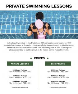 Swimming Lesson Private and Semi Private Packages In Abu Dhabi