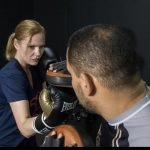 Training in the Boxing Ring in Abu Dhabi with Coach Iryna