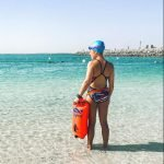 Sea swimming lessons and training in Abu Dhabi with swimming fitness coach Emma