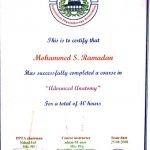 Sharjah PT Mohammed - Advanced Anatomy Certificate