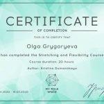 Dubai PT Olga - Flexibility Training Certificate