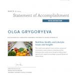 Dubai PT Olga - Nutrition Training Certificate