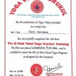 Abu Dhabi Yoga Coach Vera - Pre and Post Natal Yoga Teaching Certificate
