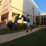 At home boxing coaching for kids in Abu Dhabi with coach Nader