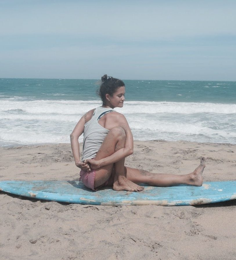 Beach Yoga Coaching In Abu Dhabi With PT Vera