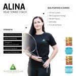 Tennis Coach In Abu Dhabi ALINA