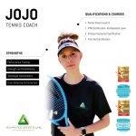 Tennis coaching for men and women in Abu Dhabi with Coach Jojo