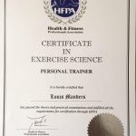 Abu Dhabi Personal Trainer Lou - Training Certificate