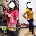 Personal Trainer In Dubai Tasneem - Client before and after image 3 - body transformation