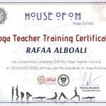 Rafaa - Yoga Training Certificate