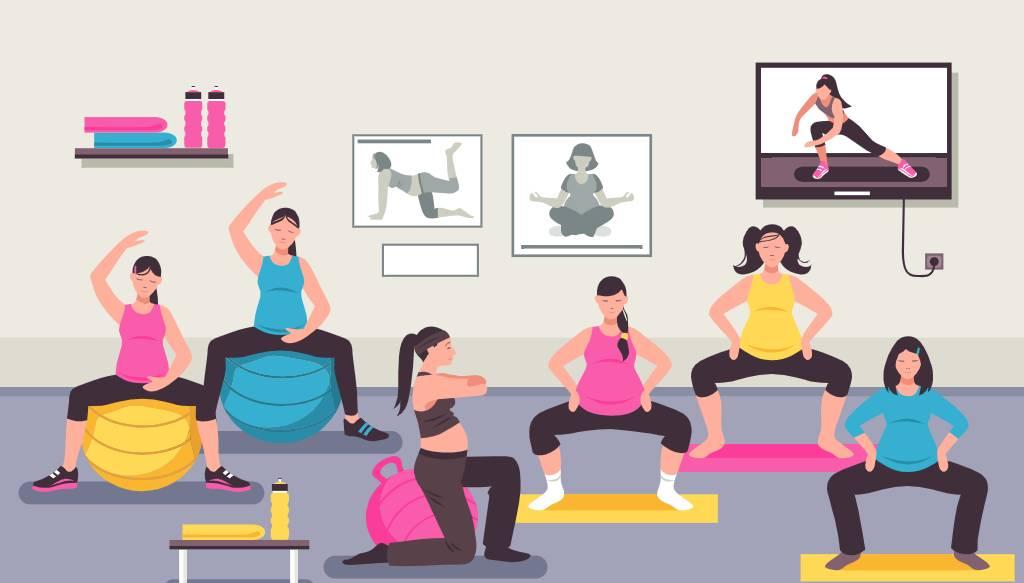 prenatal personal training - example programs for ladies in Dubai, Abu Dhabi & Sharjah