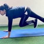 At home bodyweight training in Abu Dhabi with female PT Prithvi