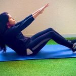 Core training in Abu Dhabi with female PT Prithvi