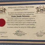 IFBB Training Certificate - Carina Fritzmann - Female Personal Trainer Dubai