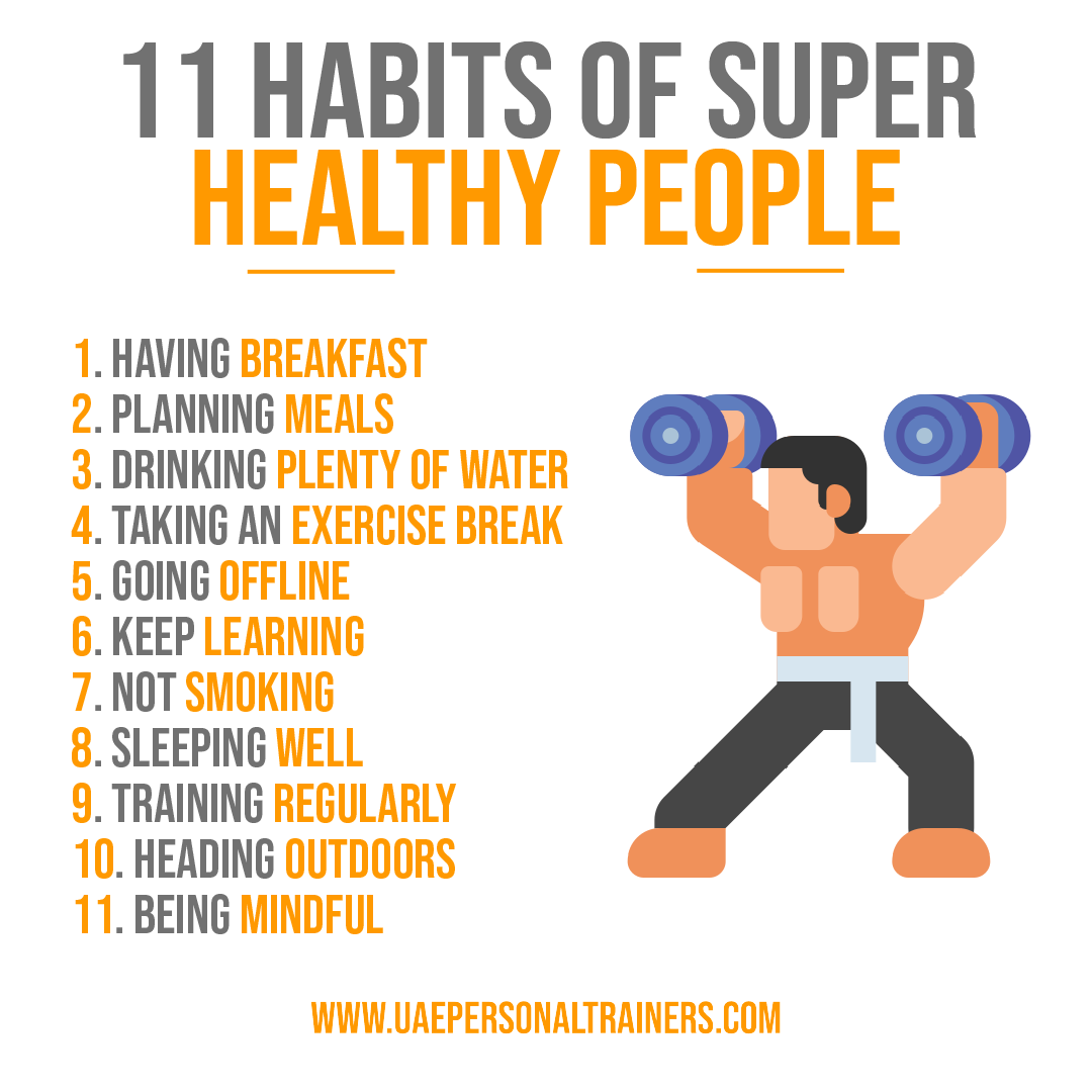 11 habits for healthy people