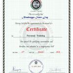 Irene - Personal Training Qualification