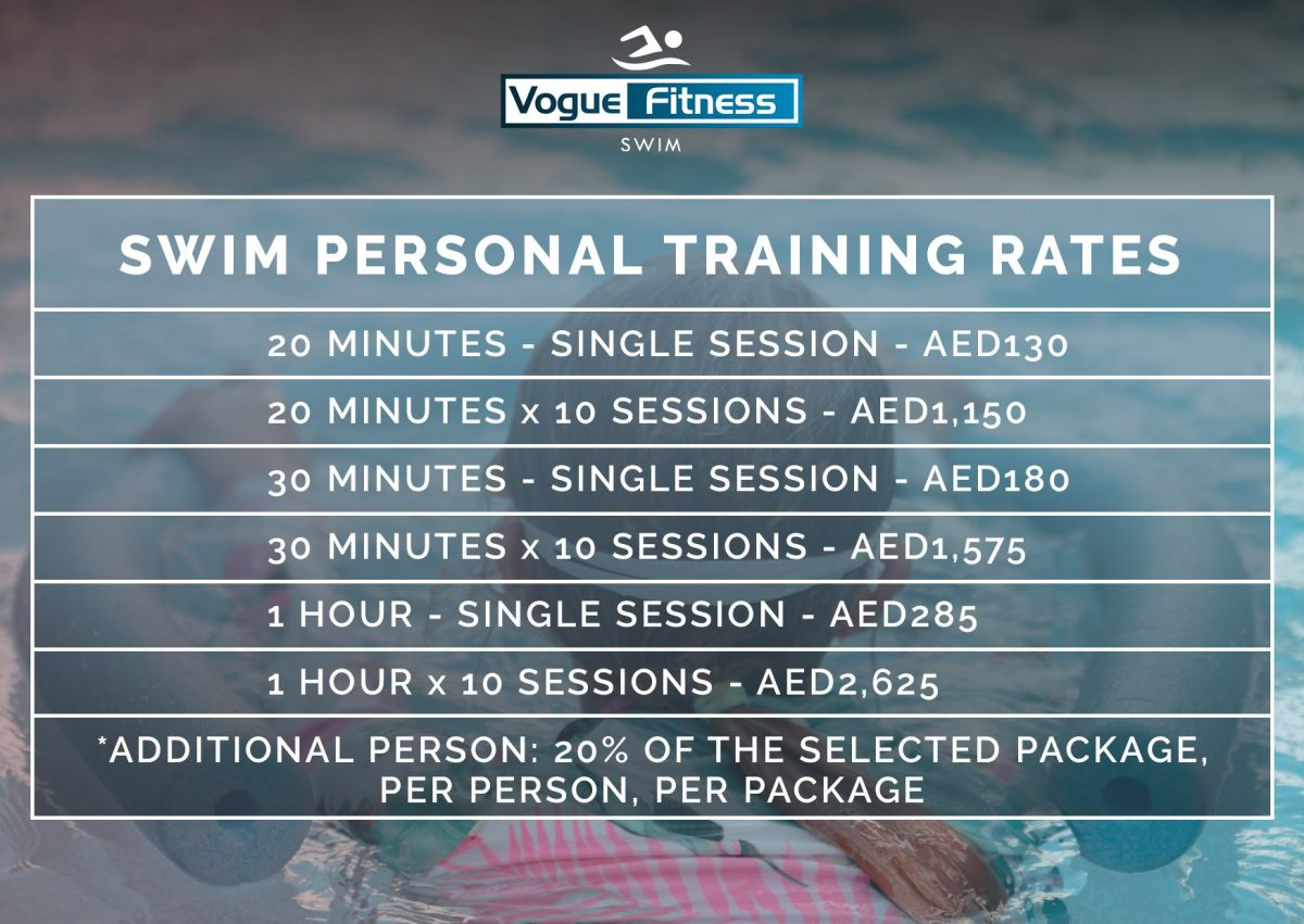 Vogue Fitness Swimming In Abu Dhabi Pricing