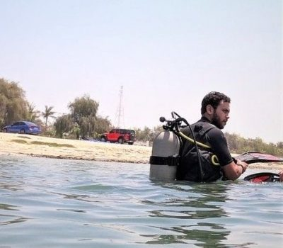 Diving lessons and swimming coach in Abu Dhabi Ayman