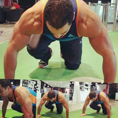 Dubai Personal Trainer Aly - Press Ups Training Session