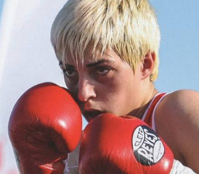 female boxing trainer in Dubai - Anahit